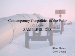 Contemporary Geopolitics of the Polar Regions