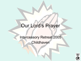 Our Lord`s Prayer - Healthcare Christian Fellowship