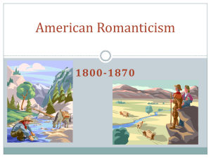 American Romanticism PPT - San Leandro Unified School District