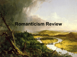 Romanticism Review - St. John Vianney High School