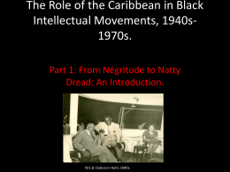From Negritude to Natty Dread