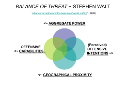 BALANCE OF THREAT ~ STEPHEN WALT