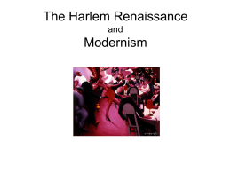 The Harlem Renaissance and Modernism