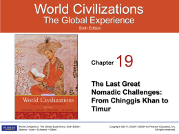 The Transcontinental Empire of Chinggis Khan