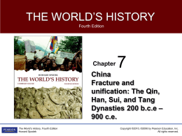 Chapter 7 _China--Fracture and Unification