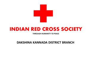 indian red cross society through humanity to peace dakshina