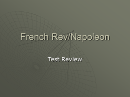 French Rev/Napoleon