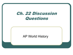 Ch. 22 Discussion Questions