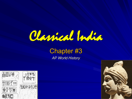 Classical Indian Societyto 300CE