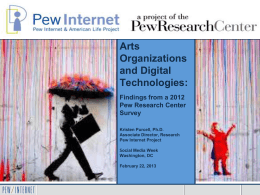Use of Social Media - Pew Internet & American Life Project