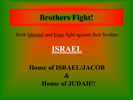 PowerPoint Slide of the Fight Between Israel`s Two Brothers