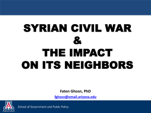 Syrian Civil War and the Impact on its Neighbors