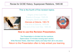 Revise for GCSE Humanities: The 1950`s
