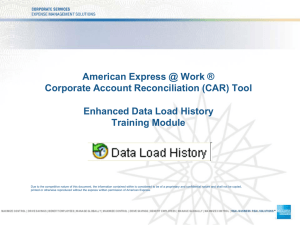 Enhanced Data Load History
