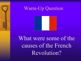 The French Revolution – A Dream Unfulfilled…