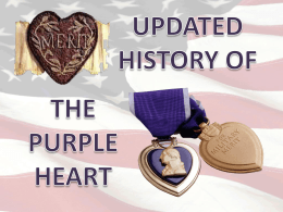 Powerpoint - Military Order of the Purple Heart