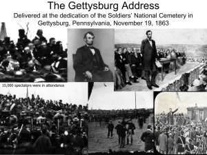 Lincoln, The Gettysburg Address (1863)