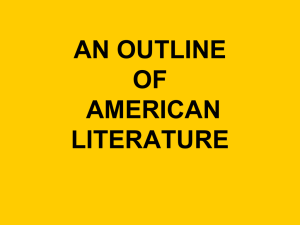 AN OUTLINE OF AMERICAN LITERATURE