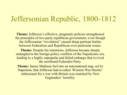11 Jeffersonian Republic