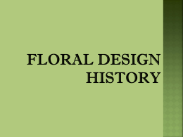 Floral Design History PowerPoint