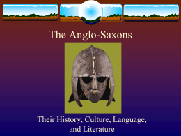 Anglo-Saxon Intro PPt updated
