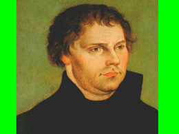 Reformation and Martin Luther