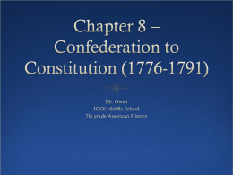 confederation to constitution
