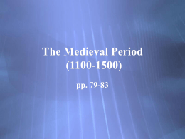 The Medieval Period (1100-1500) pp. 79