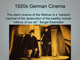 Weimar Cinema Revision 1