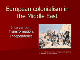Colonialism in the Middle East, powerpoint