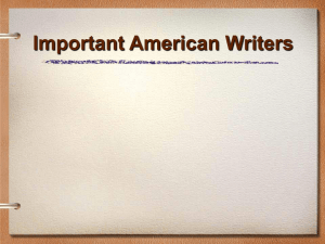 PowerPoint Presentation - Important American Writers