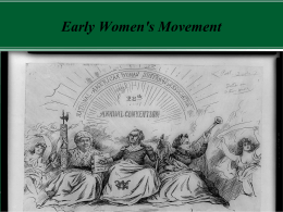 Early Women`s Movement