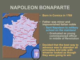 NAPOLEON BONAPARTE - Tarleton State University