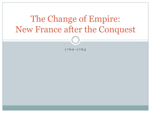 New France After Conquest
