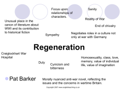 Regeneration ppt - The Grange English Department.