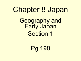 Chapter 8 Japan