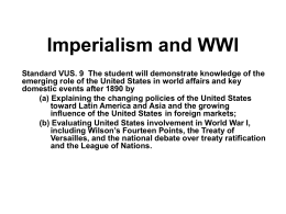 VUS 9 Imperialism and WWI