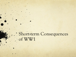 Short-term Consequences of WW1