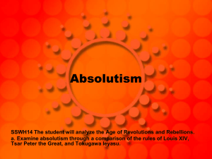 Absolutism WH14a - Wayne County Public Schools