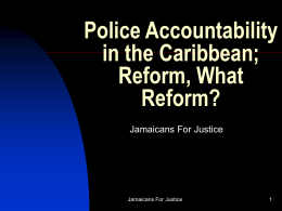 Police Accountability in the Caribbean