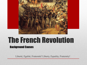 FrenchRev Causes