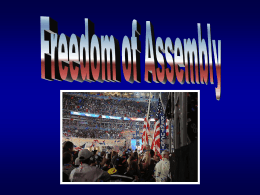 Freedom of Assembly