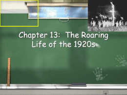 Chapter 21: The Roaring Life of the 1920s