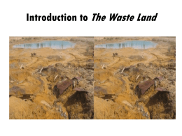 The Waste Land - marilena beltramini