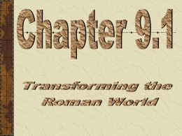Transforming the Roman World - Mounds View School Websites