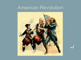American Revolution - New Bremen Local Schools