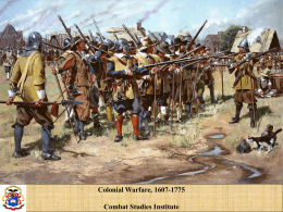 Colonial Warfare - University of South Alabama