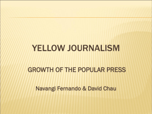 Yellow journalism and Axel Springer