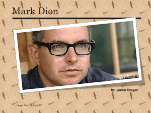 Mark Dion PowerPoint
