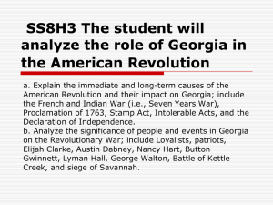 American Revolutionary War ppt 2
